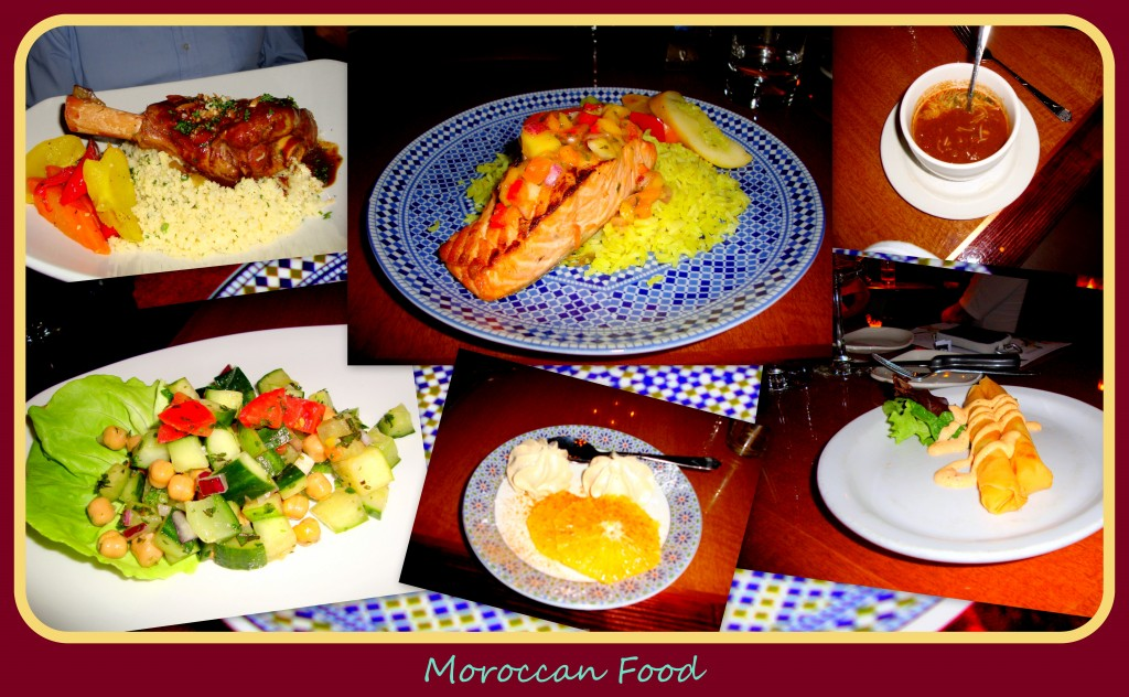 "~ ""A tasty blend of North African, Arabic, Spanish, and French influences, Moroccan food satisfies a craving for the exotic.""