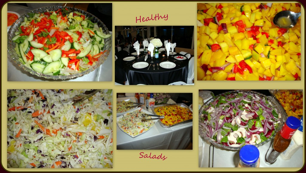 Salads are very healthy and there are a variety of different kinds to choose from - as was the case at this party.  The mango salad was especially delightful!